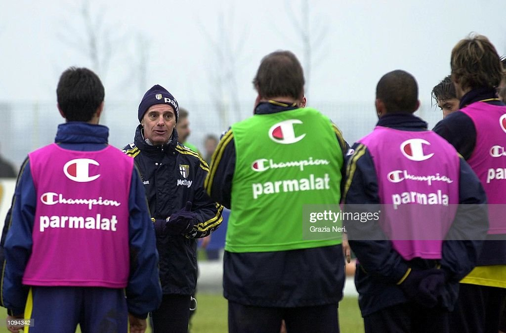 New Parma coach Arrigo Sacchi takes charge of his first Parma Training session held at the Clubs Training Ground in Parma. Mandatory Credit: Grazia Neri/ALLSPORT