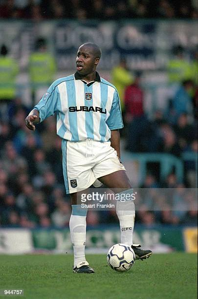 Paul Williams of Coventry City in action during the FA Carling Premiership match against Manchester City played at Highfield Road in Coventry England...