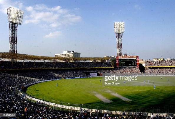 A general view of the ground during the 1st India v England One Day International match at Eden Gardens Cricket Stadium Kolkata India DIGITAL IMAGE...