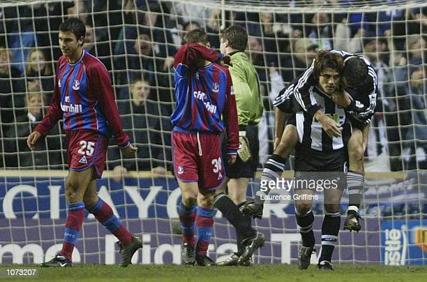 Clarence Acuna of Newcastle celebrates the second goal during the AXA Sponsored FA Cup Third round game between Newcastle United and Crystal Palace...