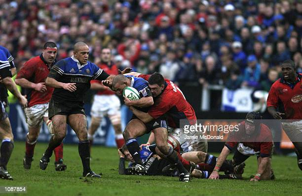 General action during the Heineken Cup quarter final game between Bath and Llanelli at the Recreation Ground in Bath DIGITAL IMAGE Mandatory Credit...