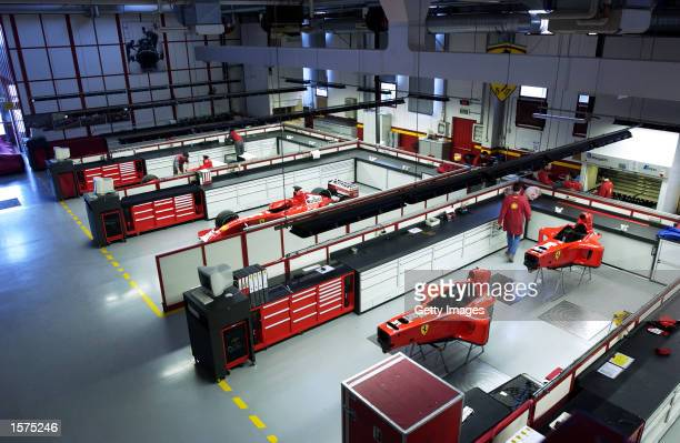 General view of the Ferrari Shell engineers at the Ferrari GT Factory in Maranello Italy DIGITAL IMAGE Picture taken by Carlo Tazzioli Mandatory...