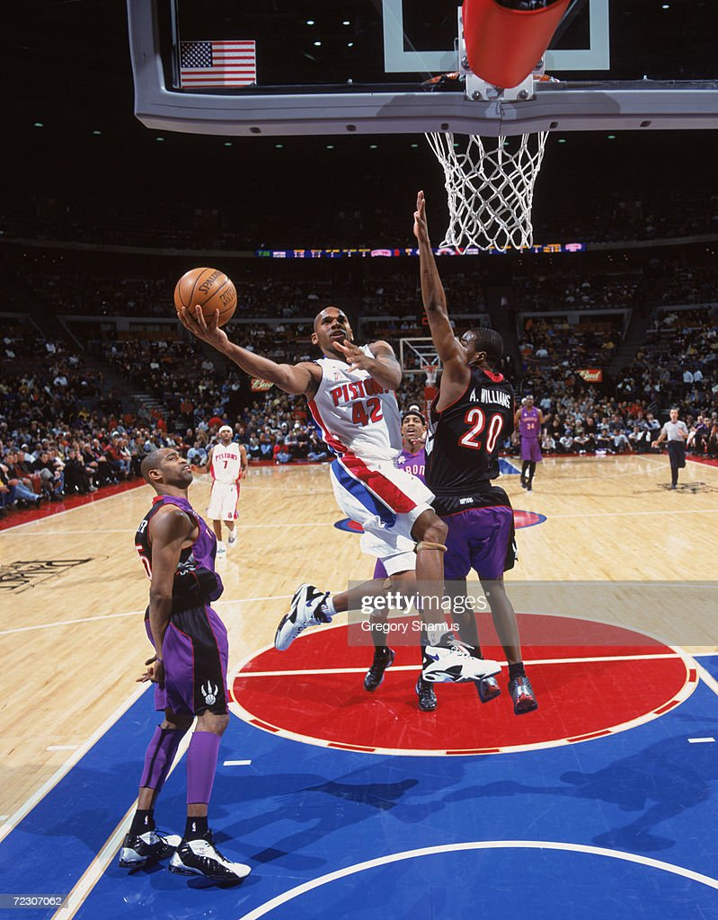Jerry Stackhouse 42 of the Detroit Pistons shoots