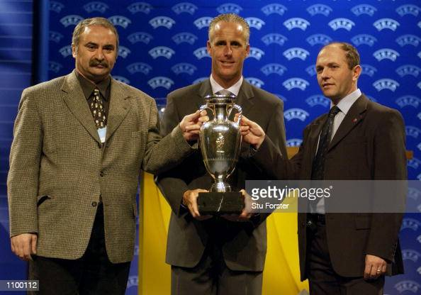 Republic of Ireland Manager Mick Mcarthy with other Managers from their group after the draw for Euro 2004 Football Championships Qualification at...