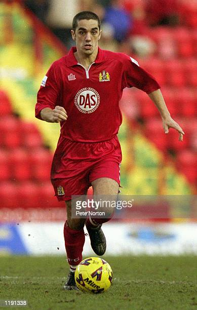 Scott Murray of Bristol City runs with the ball during the Nationwide League Division Two match between Bristol City and Northampton Town played at...
