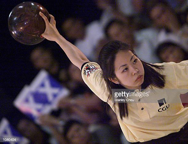 Yap Seok Kim of Singapore in action during the quarter finals of the CGU Asian Bowling Tour 2001 Grand Slam Finals held at the Cathay Bowl at the...
