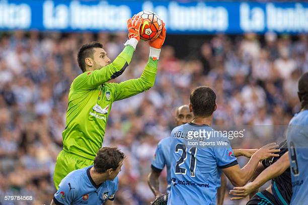 Vedran Janjetovic of Sydney FC collects the ball during the 16th round of the 201516 Hyundai ALeague Season between Melbourne Victory and Sydney FC...
