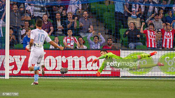 Vedran Janjetovic of Sydney FC fails to deflect the ball leading to a goal to Melbourne City during the 13th round of the 201516 Hyundai ALeague...