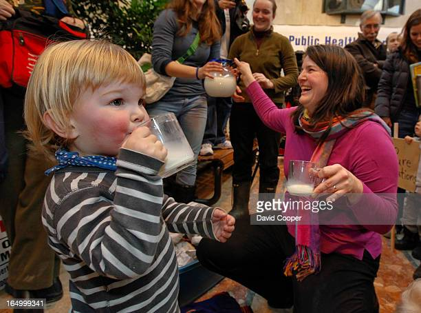 Jan 21 2010 William Schmidt and his mother Elisa VanderHout toast their victory with glasses of milk Raw milk farmer Michael Schmidt was acquitted in...