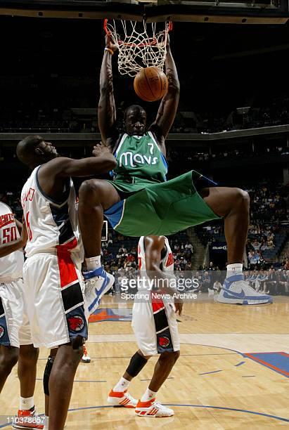Jan 23 2008 Charlotte North Carolina USA The Dallas Mavericks DESAGANA DIOP against the Charlotte Bobcats at the Charlotte Bobcats Arena The Dallas...