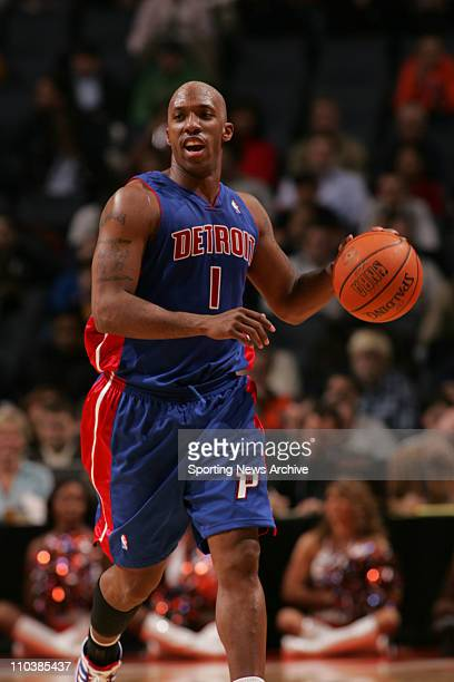Jan 24 2007 Charlotte NC USA Detroit Pistons CHAUNCEY BILLUPS against Charlotte Bobcats on Jan 24 at the Charlotte Bobcats Arena in Charlotte NC The...