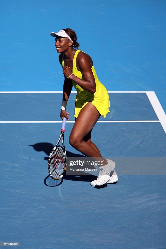 Jan 24 2010 Melbourne Victoria Australia Venus Williams defeated Casey Dellacqua 61 76 in their third round match at Rod Laver Arena during the 2010...