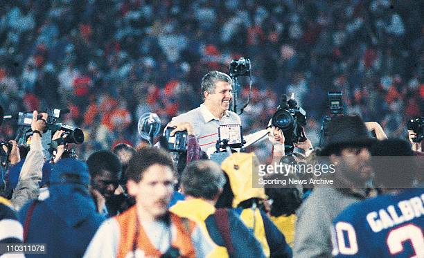 Jan 25 1987 Pasadena California USA Denver Broncos against New York Giants head coach BILL PARCELLS in Super Bowl 21 at the Rose Bowl