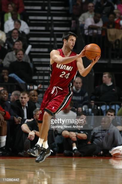 Jan 27 2006 Charlotte NC USA NBA BASKETBALL Miami Heat Jason Kapono against Charlotte Bobcats on Jan 27 at the Charlotte Bobcats Arena in Charlotte...