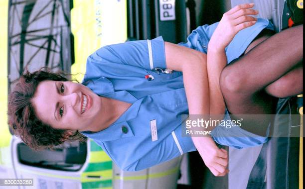Jan Anderson the newest recruit of BBC's hit series CASUALTY when she plays new nurse 'Chloe Hill' in the forthcoming series during a photocall today...