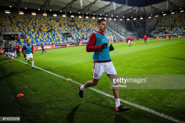 Jan Bednarek during UEFA U21 Championship Qualifier match between Poland and Denmark on November 14 2017 in Gdynia Poland