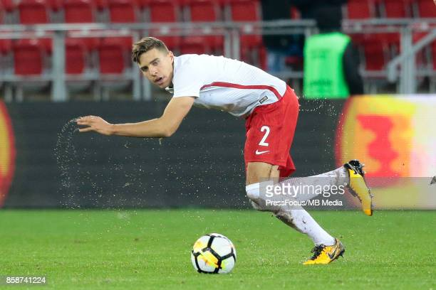 Jan Bednarek of Poland during the 2019 UEFA European Under21 Championship qualification game between Poland and Finland on October 6 2017 in Lodz...