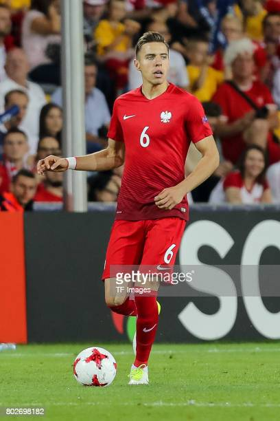 Jan Bednarek of Poland in action during the UEFA European Under21 Championship Group A match between England and Poland at Kielce Stadium on June 22...