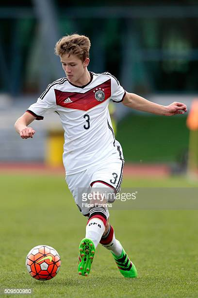 Jan Boller of Germany during the UEFA Under16 match between U16 Germany v U16 Netherlands on February 8 2016 in Vila Real de Santo Antonio Portugal
