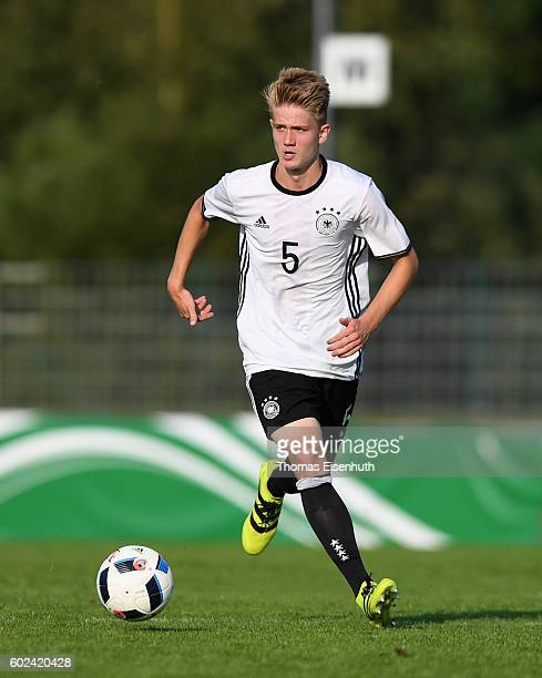 Jan Boller of Germany in action during the Under 17 four nations tournament match between U17 Germany and U17 Italy at bluechipArena on September 11...