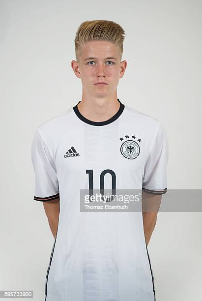 Jan Boller of the Germany national U17 team poses during the team presentation on September 6 2016 in Jena Germany