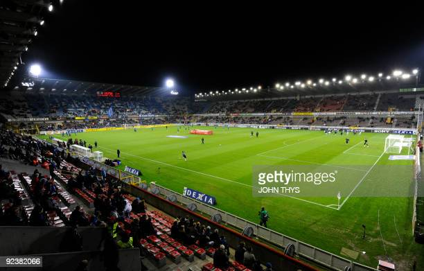Jan Breydel stadium of FC Brugge plays on October 18 2009 in Bruges