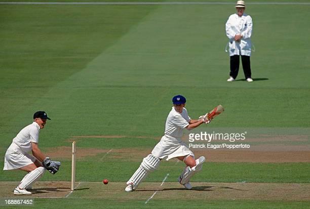 Jan Brittin batting England v New Zealand Women's World Cup Final at Lord's1993