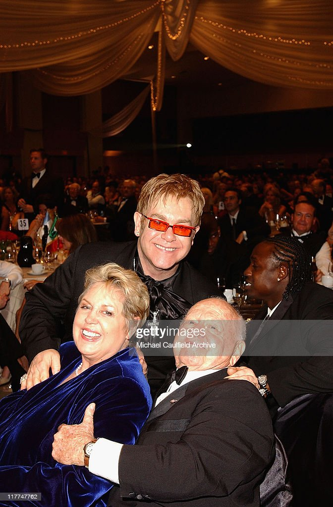 Jan Chamberlin Sir Elton John and Mickey Rooney during 'So The World May Hear' Awards Gala All Access at Rivercentre in St Paul Minnesota United...