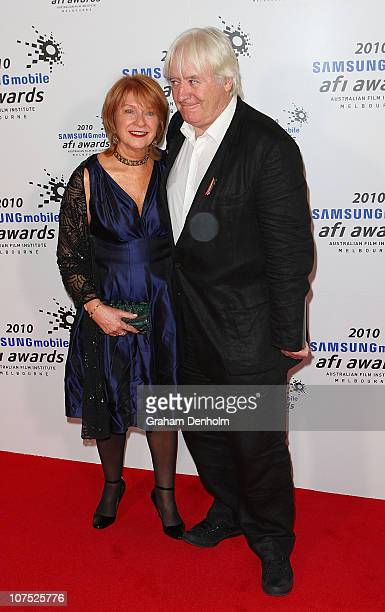 Jan Chapman and Stephen O'Rourke arrive at the 2010 Samsung Mobile AFI awards at the Regent Theatre on December 11 2010 in Melbourne Australia