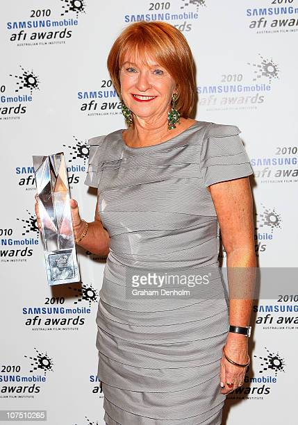 Jan Chapman poses with the award for Best Cinematography at the 2010 Samsung Mobile AFI Industry Awards at the Regent Theatre on December 10 2010 in...