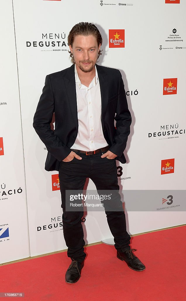 Jan Cornet attends the premiere of 'Menu Degustacion' at Comedia Cinema on June 10, 2013 in Barcelona, Spain.