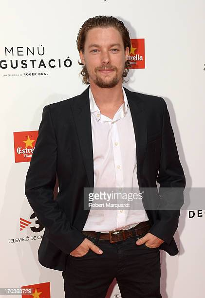 Jan Cornet attends the premiere of 'Menu Degustacion' at Comedia Cinema on June 10 2013 in Barcelona Spain
