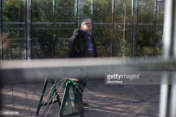 Jan de Koning a 68yearold employed as a maintenance supervisor via specialist seniors recruitment company 65plus stands in a glass house in the...