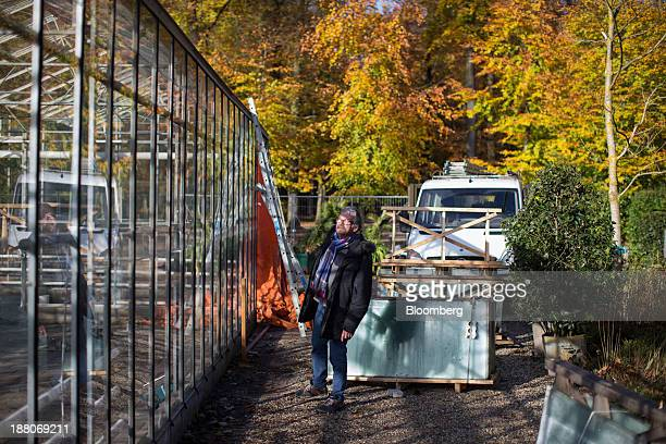 Jan de Koning a 68yearold employed as a maintenance supervisor via specialist seniors recruitment company 65plus inspects a glass house in the...