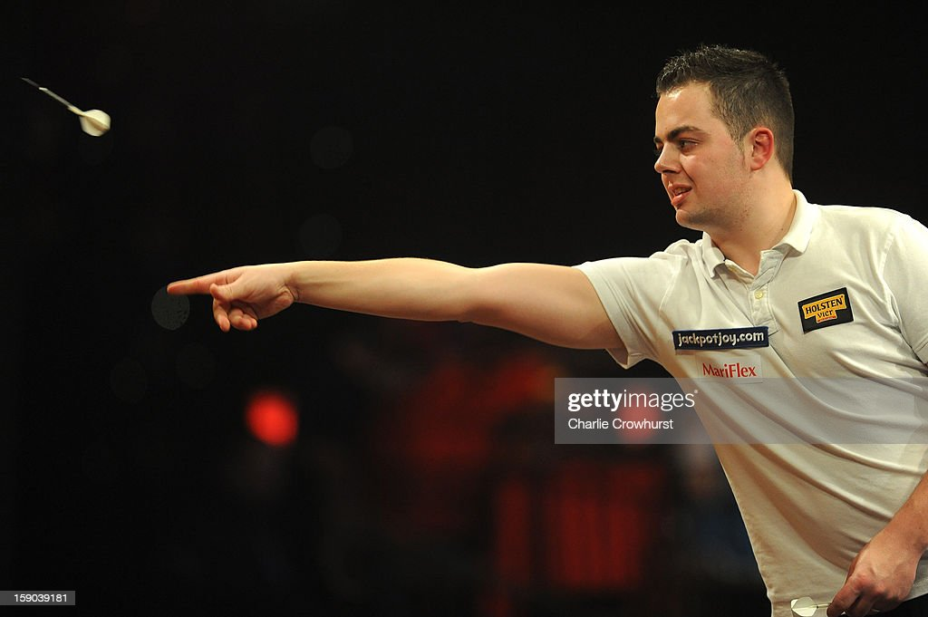 Jan Dekker of The Netherlands in action during his first round match against Jeffrey De Graaf of The Netherlands on day two of the BDO Lakeside World Professional Darts Championships at Lakeside Country Club on January 06, 2013 in London, England.