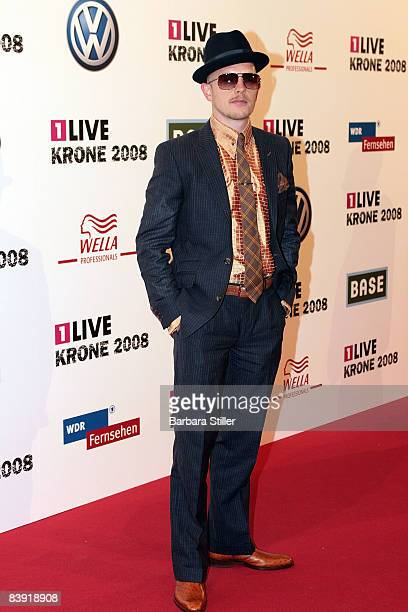 Jan Delay attends the ''1Live Krone'' awards on December 4 2008 in Bochum Germany