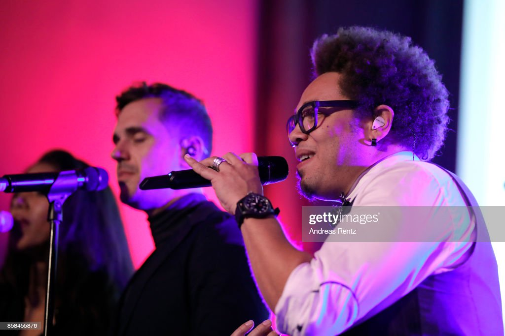 Jan Dettwyler and Marc Sway perform at the Tommy Hilfiger VIP Dinner in celebration of the 13th Zurich Film Festival on October 6, 2017 in Zurich, Switzerland.