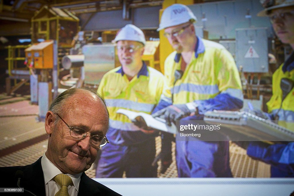 Jan du Plessis, chairman of Rio Tinto Group, attends the company's annual general meeting in Brisbane, Australia, on Thursday, May 5, 2016. Rio Tinto Group, the second-largest mining company, reaffirmed its goal to raise annual iron ore output in Australia to 360 million metric tons amid forecast growth demand in Asia. Photographer: Patrick Hamilton/Bloomberg via Getty Images