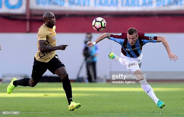 Jan Durica of Trabzonspor in action during the Turkish Spor Toto Super Lig football match between Trabzonspor and Osmanlispor at Avni Aker stadium in...