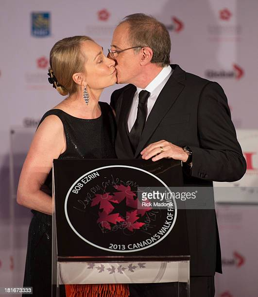 TORONTO SEPTEMBER 21 Jan Ezrin gets a kiss from husband Bob during unveiling of his plaque Canada's Walk of Fame inducted a number of Canadian...