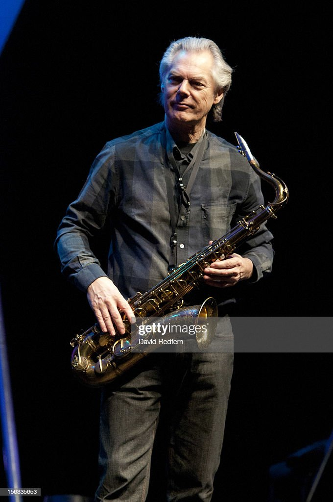 Jan Garbarek performs on stage at the Royal Festival Hall for the London Jazz Festival on November 13, 2012 in London, United Kingdom.