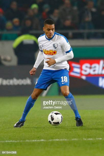 Jan Gyamerah of Bochum during the Second Bundesliga match between Hannover 96 and VfL Bochum 1848 at HDIArena on February 13 2017 in Hanover Germany