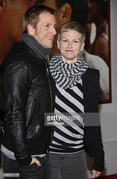 Jan Hahn and Karen Heinrichs arrive for the ''Kokowaeaeh' Germany Premiere at the CineStar movie theater on January 25 2011 in Berlin Germany