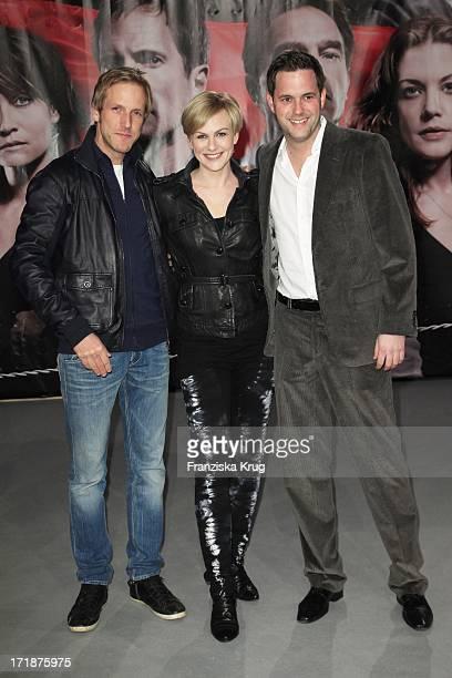 Jan Hahn Karen Heinrichs And Matthias Killing at the Premiere Of Sat1 event twoparter 'The Border' Cinestar in Berlin Sony Center in Berlin