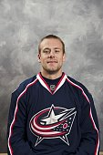 Jan Hejda of the Columbus Blue Jackets poses for his official headshot for the 20092010 NHL season