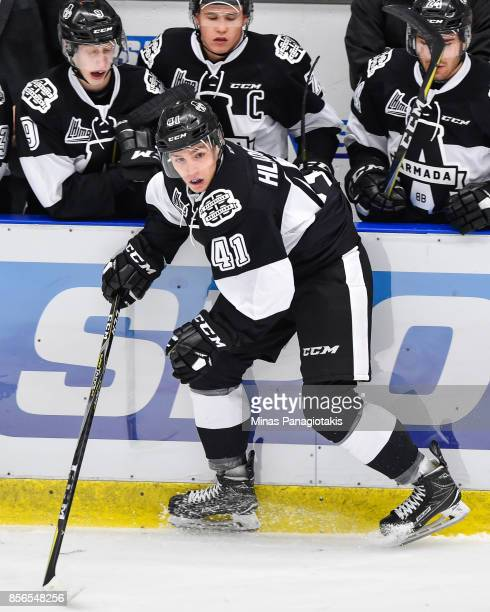 Jan Hladonik of the BlainvilleBoisbriand Armada skates against the RouynNoranda Huskies during the QMJHL game at Centre d'Excellence Sports Rousseau...