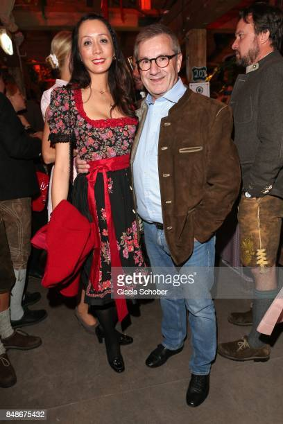 Jan Hofer and his partner Phong Lan Truong during the 'Almauftrieb' as part of the Oktoberfest 2017 at Kaeferschaenke Tent on September 17 2016 in...