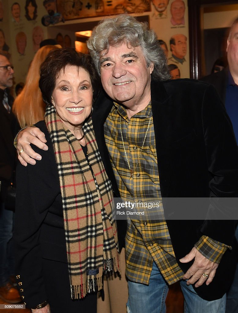 Jan Howard and Dave Rowland attend the 2nd Annual Legendary Lunch presented by Webster Public Relations and CMA at The Palm Restaurant on February 8, 2016 in Nashville, Tennessee.