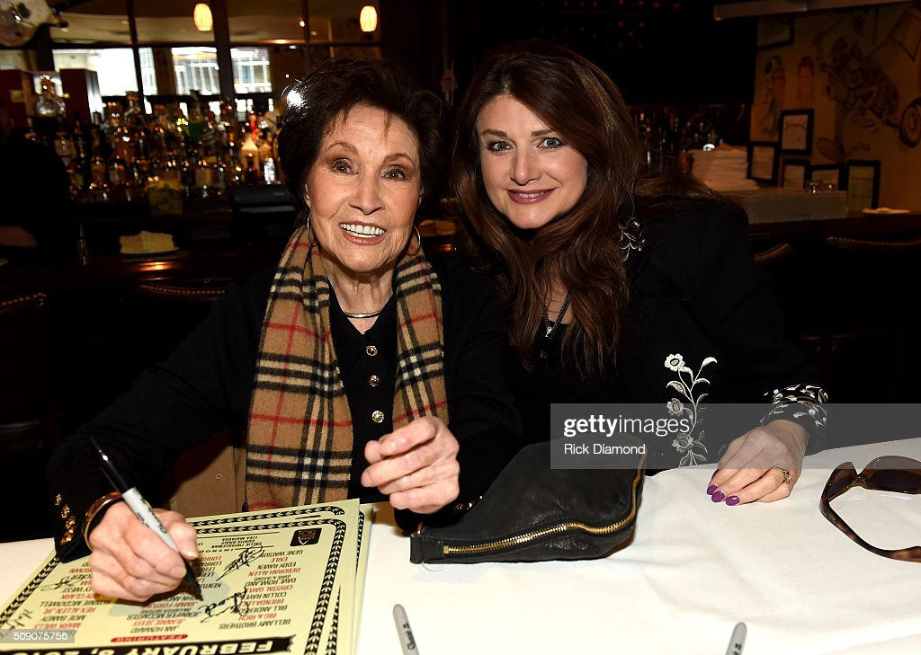 Jan Howard and Sylvia attend the 2nd Annual Legendary Lunch presented by Webster Public Relations and CMA at The Palm Restaurant on February 8, 2016 in Nashville, Tennessee.