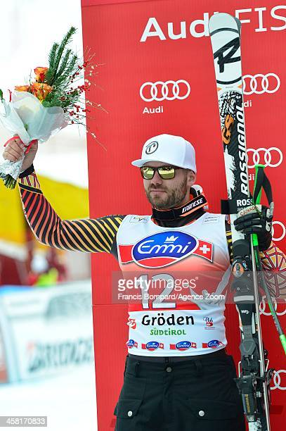 Jan Hudec of Canada takes 2nd place during the Audi FIS Alpine Ski World Cup Men's SuperG on December 20 2013 in Val Gardena Italy